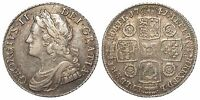 1741 ONE SILVER SHILLING COIN ROSES IN ANGLES TYPE KING GEORGE II C.1662 1816