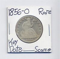1856 O SEATED LIBERTY SILVER HALF DOLLAR US MINT  DATE SILVER  90