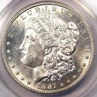 1887-S MORGAN SILVER DOLLAR $1 - ANACS MINT STATE 60 DETAILS BU UNC -  DATE COIN