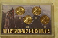 LOT SET OF 4 THE LOST SACAGAWEA GOLD DOLLARS 2003 2004 2005 2002
