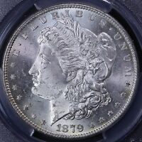 1879-S MORGAN SILVER DOLLAR PCGS MINT STATE 65 22-1CET