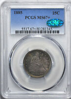 1885 LIBERTY SEATED 25C PCGS MS 67