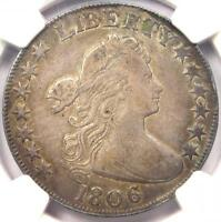 1806 DRAPED BUST HALF DOLLAR 50C O-105A - NGC VF DETAILS -  CERTIFIED COIN