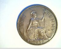1939 GREAT BRITIAN LARGE PENNY UNC HIGH GRADE BRONZE COIN UK 280