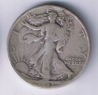 1943 D WALKING LIBERTY HALF DOLLAR SILVER COIN 1/2 FIFTY CENTS 50 C WWII RELIC