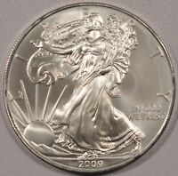 2009 AMERICAN SILVER EAGLE BRILLANT AND UNCIRCULATED  OUT OF A MONSTER BOX