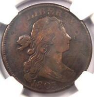 1803 DRAPED BUST LARGE CENT 1C S 252   NGC VF DETAILS    EARLY DATE PENNY
