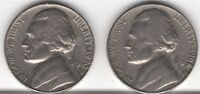 LOT OF 2 JEFFERSON NICKELS 1968S AND 1970S