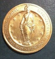 WA OFFICIAL COMMEMORATIVE MEDAL NATIONAL SESQUICENTENNIAL CAPITAL 1800 1950