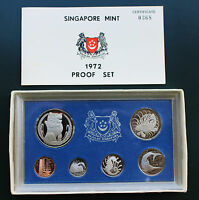 SINGAPORE 1972 PROOF SET WITH ORIGINAL BOX AND COA 0368 ONLY 749 MINTED