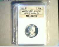 WASHINGTON QUARTER 1981S UNC HIGH GRADE PROOF  US 671