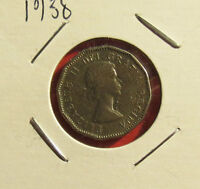 CANADA 1959 12 SIDED FIVE CENT COIN EARLY ELIZABETH CIRCULATED LOT FC5801