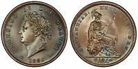 GREAT BRITAIN GEORGE IV 1826 CU PENNY PCGS MS65BN SCBC 3823; PECK 1422. GEM.