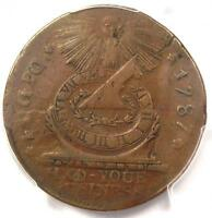 1787 FUGIO CENT 1C COIN