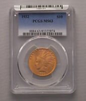 1932 P $10 INDIAN EAGLE GOLD COIN PCGS MS 63 BEST PRICE ON EBAY