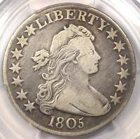 1805 DRAPED BUST HALF DOLLAR 50C - PCGS VF DETAILS -  CERTIFIED COIN