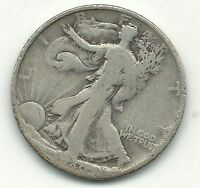 A  VINTAGE 1940 S LIBERTY WALKING SILVER HALF DOLLAR COIN-OCT004
