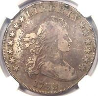 1799 DRAPED BUST SILVER DOLLAR $1   CERTIFIED NGC FINE DETAILS    COIN