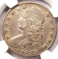 1833 CAPPED BUST HALF DOLLAR 50C   NGC XF45 EF45 PQ    CERTIFIED COIN
