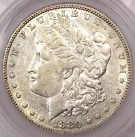1880 8/7 CROSSBAR MORGAN SILVER DOLLAR VAM 7 $1   CHOICE AU   $800 VALUE IN AU