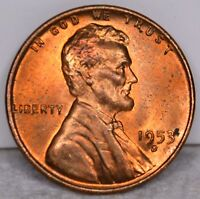 1C 1953 D LINCOLN BU RED BROWN TONED REVERSE T-855