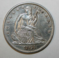 1844  SEATED SILVER HALF DOLLAR C67