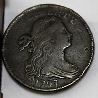 1797 DRAPED BUST LARGE CENT.  FIRST HAIR.  EXTRA FINE DETAILS.   COIN