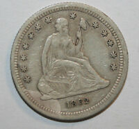 1862 SEATED LIBERTY QUARTER  MM7