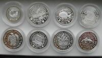 1983 1984 FAO FISHERIES PIEDFORT 8 COIN SILVER PROOF SET