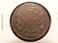 1870 TWO CENT PIECE.  LOW MINTAGE