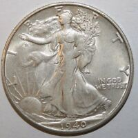 1940-S WALKING LIBERTY SILVER HALF DOLLAR X75