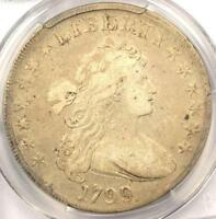 1799 DRAPED BUST SILVER DOLLAR $1   CERTIFIED PCGS FINE DETAILS    COIN