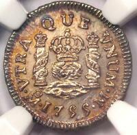 1755 MO MEXICO PILLAR HALF REAL COIN 1/2R   NGC UNCIRCULATED DETAILS MS UNC