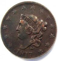 1817 CORONET MATRON LARGE CENT 1C - ANACS EXTRA FINE 40 DETAILS EF40 -  COIN