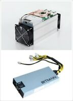 BITCOIN MINER MINERS BTC MINING ANTMINER S9 13.5TH/S & APW3 12 1600 PSU