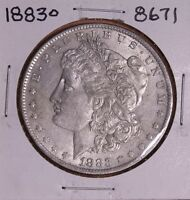 1883 O MORGAN SILVER DOLLAR 8671 AU