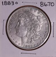1883 O MORGAN SILVER DOLLAR 8670 AU