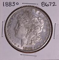 1883 O MORGAN SILVER DOLLAR 8672 AU