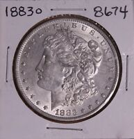 1883 O MORGAN SILVER DOLLAR 8674 AU