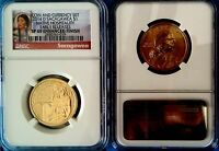 2014 D SACAGAWEA FROM COIN & CURRENCY SET   NGC GRADED SP69 ENHANCED FINISH