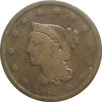 1841 BRAIDED HAIR LARGE CENT  N 5 R 3  ITEM 275PI