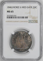 1846 LIBERTY SEATED 50C NGC MS 65