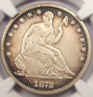 1872 CC SEATED LIBERTY HALF DOLLAR 50C COIN   CERTIFIED NGC VF DETAILS VF