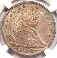 1853 O ARROWS & RAYS SEATED LIBERTY HALF DOLLAR 50C   CERTIFIED NGC VF30 PQ