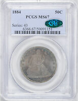 1884 LIBERTY SEATED 50C PCGS MS 67