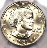 1981 S SUSAN B ANTHONY DOLLAR SBA $1   CERTIFIED PCGS MS66   $550 VALUE