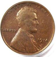 1914 D LINCOLN WHEAT CENT 1C   PCGS VF25 VERY FINE    KEY DATE PENNY