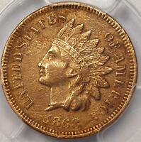1868 INDIAN CENT 1C   PCGS VF DETAILS    EARLY DATE CERTIFIED PENNY