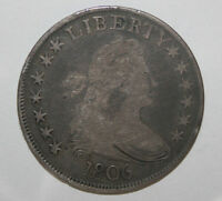 1806 DRAPED BUST SILVER HALF   G64