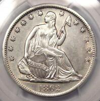 1862 S SEATED LIBERTY HALF DOLLAR 50C   PCGS AU DETAILS    CIVIL WAR COIN